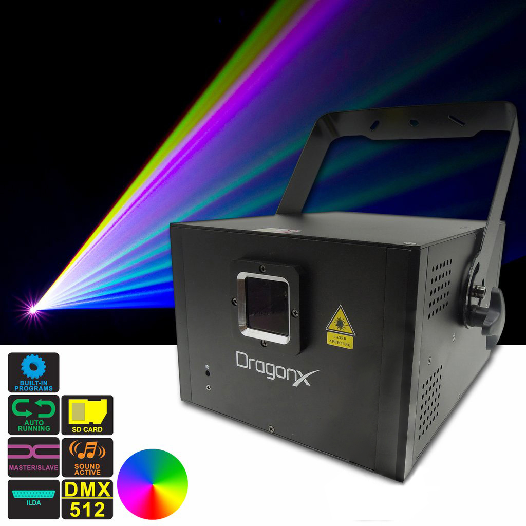 Hawk 1W RGB Full Color Compact ILDA Programmable Diode Laser Projector